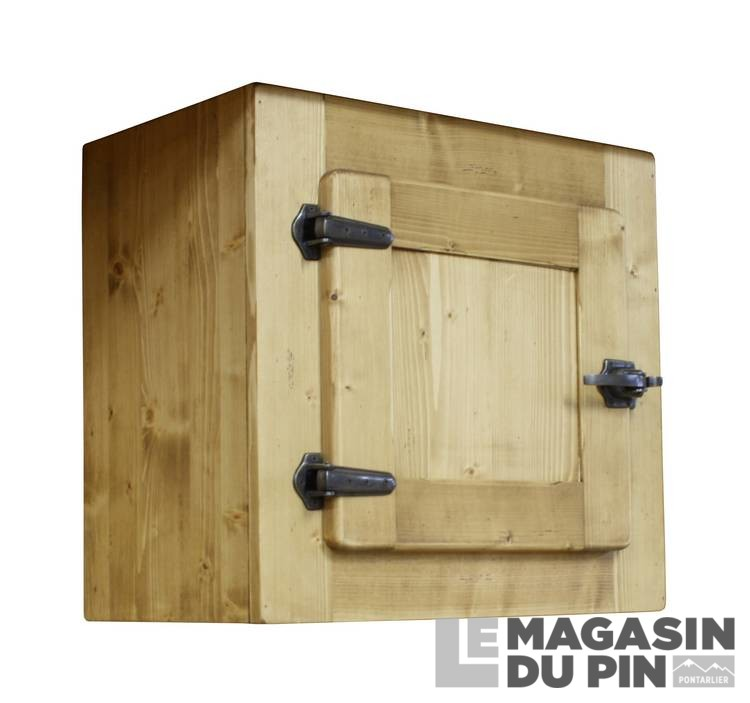 meuble haut sur hotte 1 porte pin massif pour cuisine avoriaz le magasin. Black Bedroom Furniture Sets. Home Design Ideas
