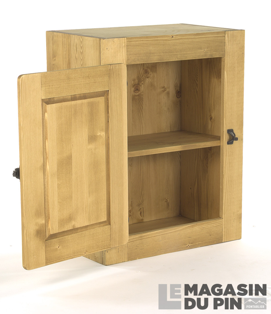 meuble haut 1 porte pin massif pour cuisine avoriaz le magasin du. Black Bedroom Furniture Sets. Home Design Ideas