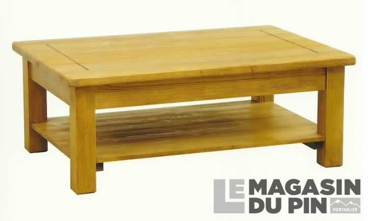 table basse en pin massif avoriaz le magasin du pin. Black Bedroom Furniture Sets. Home Design Ideas