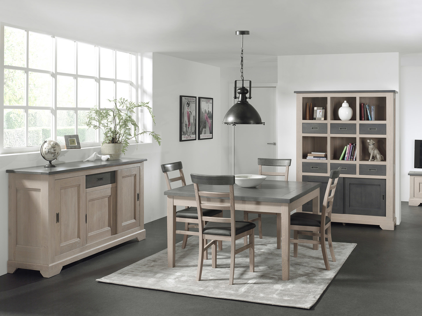 table repas ch ne massif 2 allonges porquerolles le. Black Bedroom Furniture Sets. Home Design Ideas