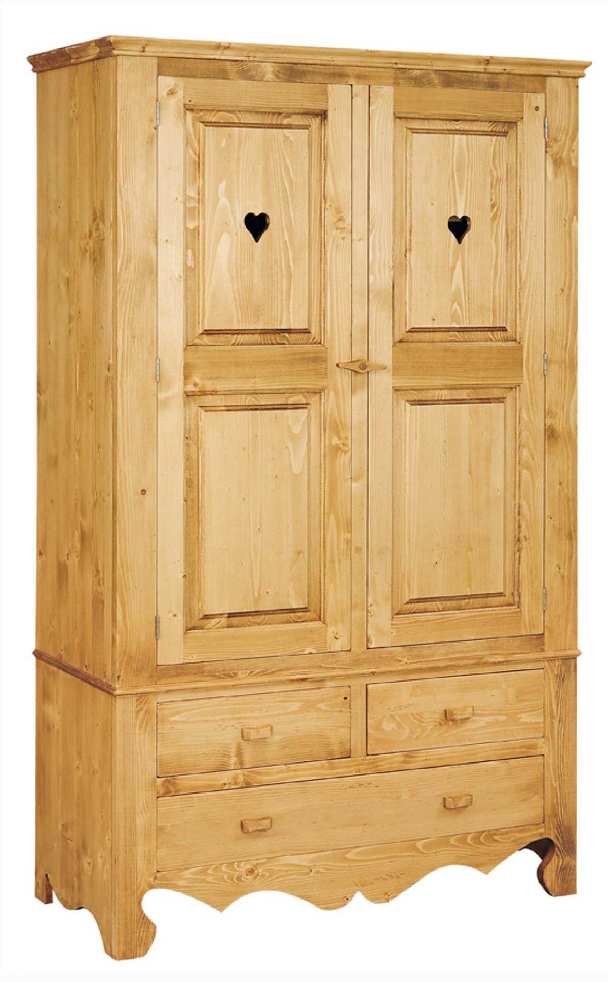 armoire en pin massif 2 portes 2 tiroirs chamonix le magasin du pin. Black Bedroom Furniture Sets. Home Design Ideas