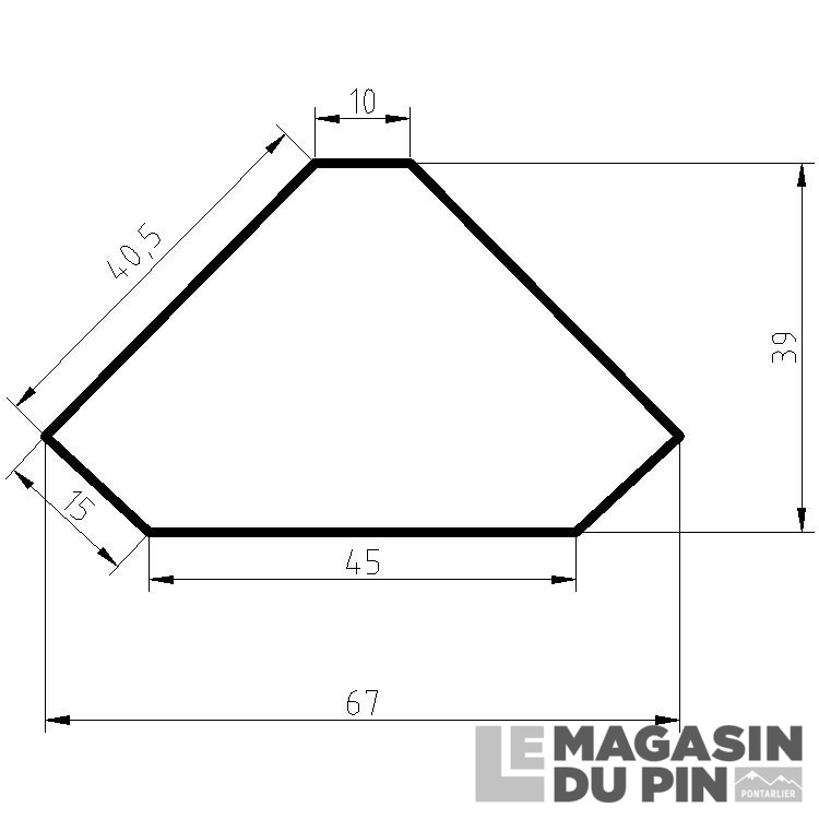 Bahut D'Angle 3 Étagères En Pin Massif Chamonix Le Magasin Du Pin