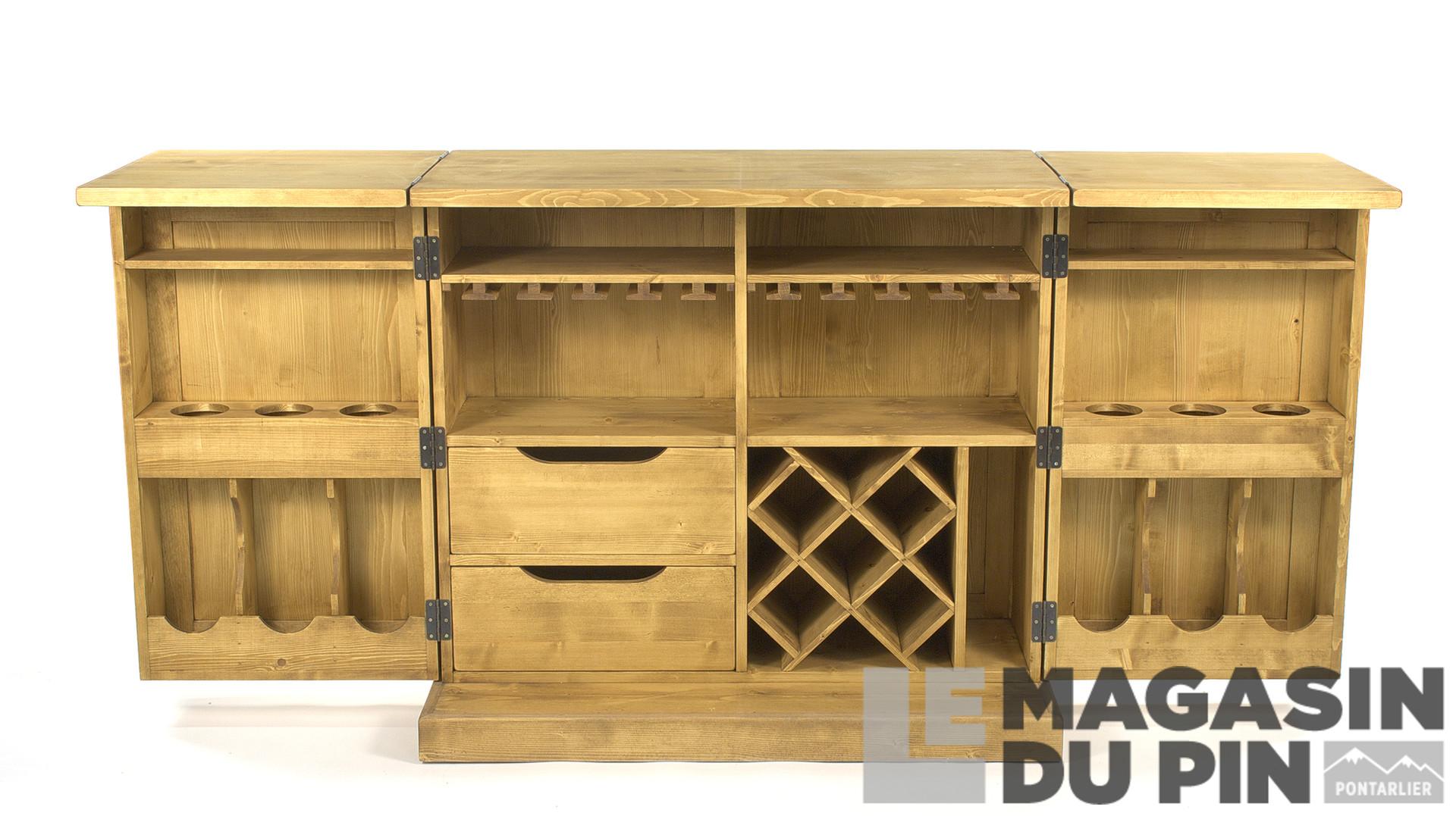 Meuble Mini Bar D Angle meubles bar en pin massif le magasin du pin