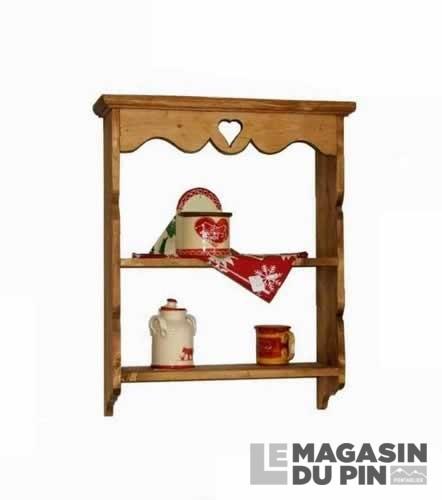 tag re murale simple en pin massif chamonix le magasin du pin. Black Bedroom Furniture Sets. Home Design Ideas