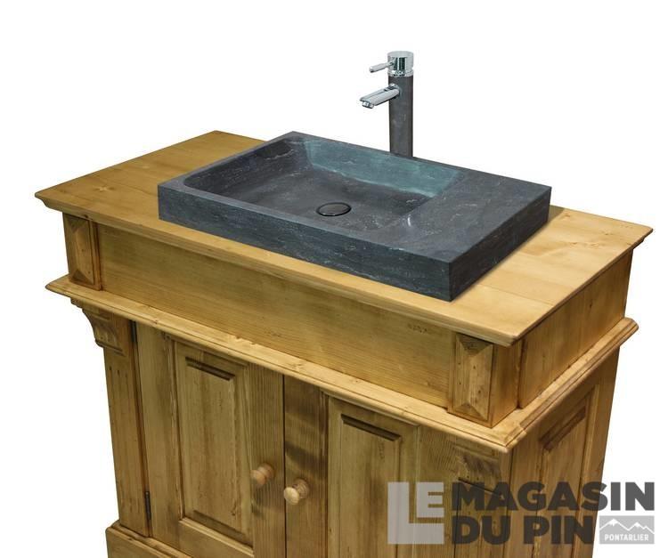 meuble lavabo simple en pin massif chamonix le magasin du pin. Black Bedroom Furniture Sets. Home Design Ideas