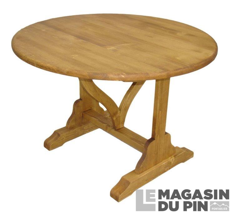 table ronde pliante en pin massif chamonix le magasin du pin. Black Bedroom Furniture Sets. Home Design Ideas