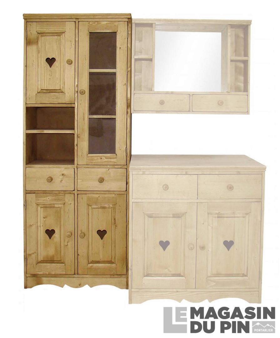 colonne salle de bain double 4 portes en pin massif. Black Bedroom Furniture Sets. Home Design Ideas