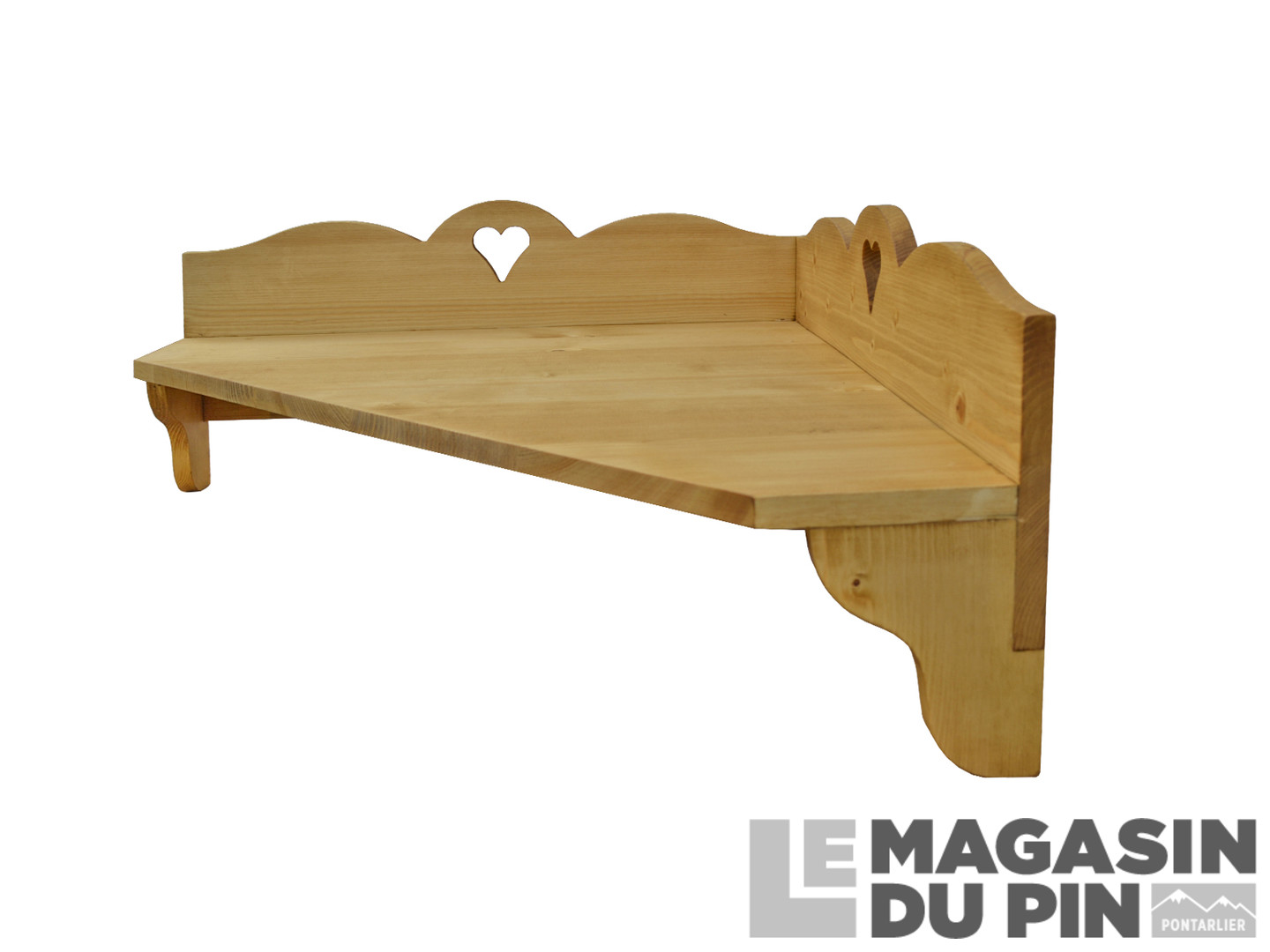 Meuble Suspendu D Angle Pin Massif Chamonix Le Magasin Du Pin # Meuble D'Angle Suspendu