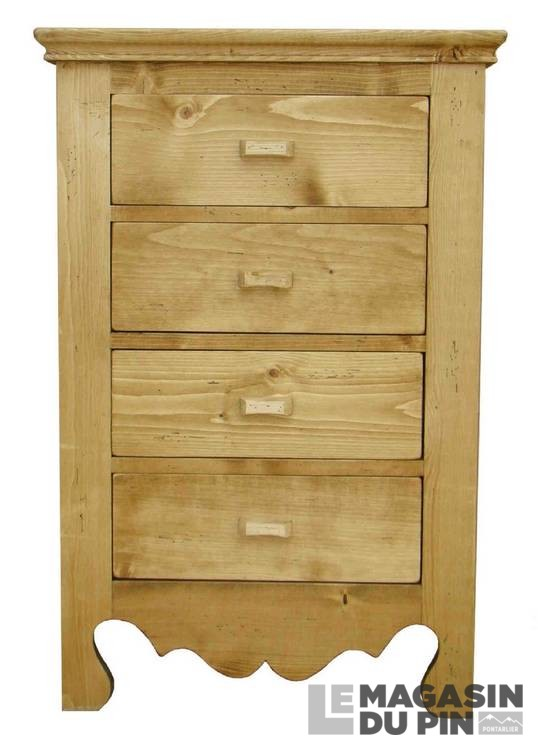chiffonnier 4 tiroirs en pin massif chamonix le magasin du pin. Black Bedroom Furniture Sets. Home Design Ideas