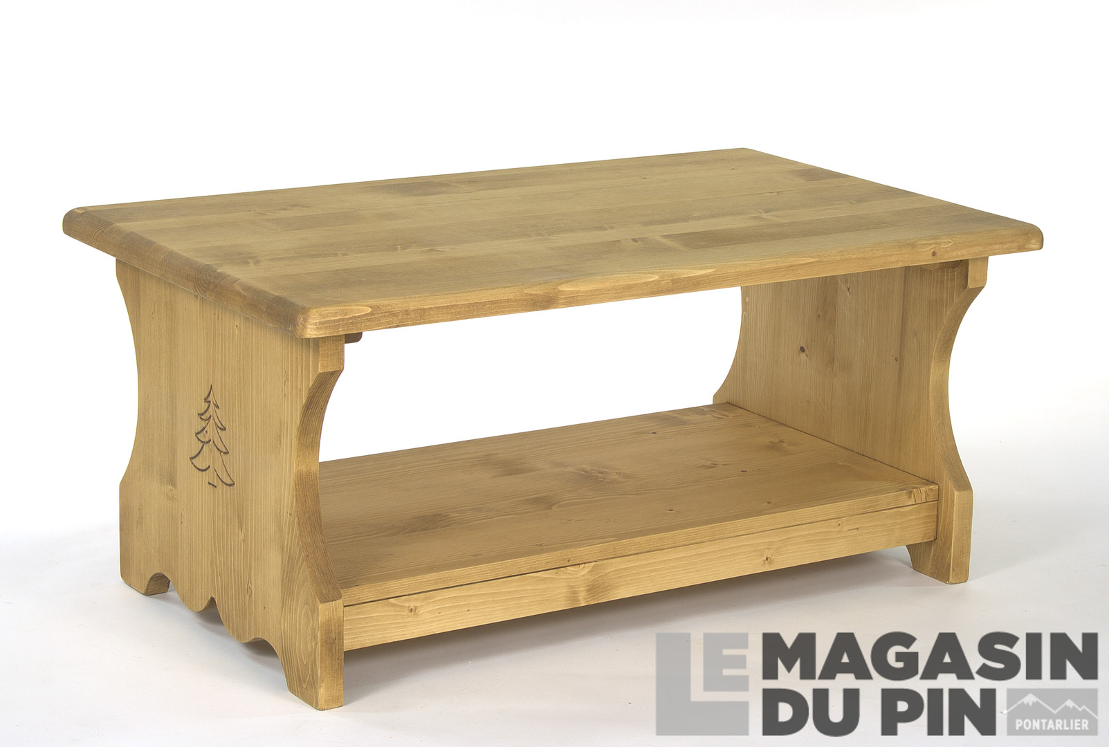 table basse 100 cm en pin massif chamonix 2 plateaux 2. Black Bedroom Furniture Sets. Home Design Ideas