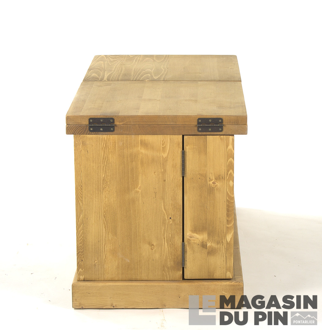 table basse mini bar en pin massif chamonix le magasin du pin. Black Bedroom Furniture Sets. Home Design Ideas