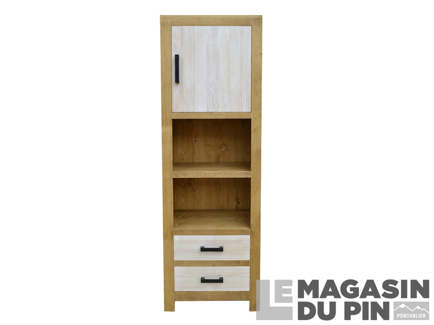 colonne cardiff pin massif 1 portes 2 tiroirs le magasin du pin. Black Bedroom Furniture Sets. Home Design Ideas