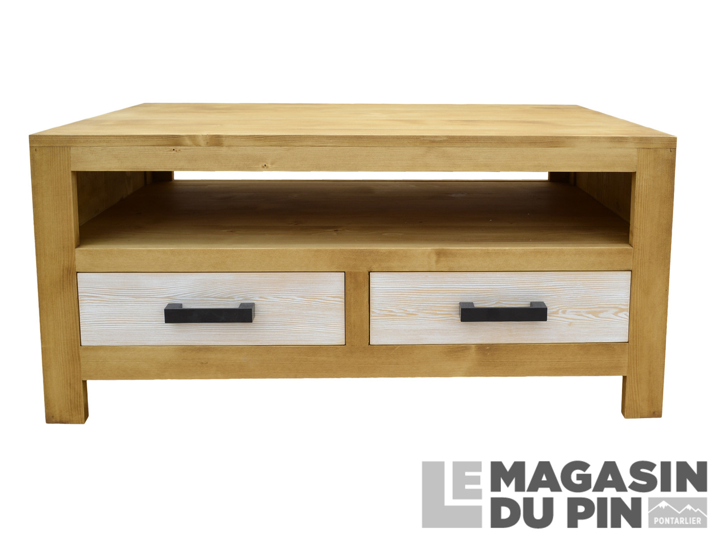 table basse cardiff pin massif 2 tiroirs le magasin du pin. Black Bedroom Furniture Sets. Home Design Ideas