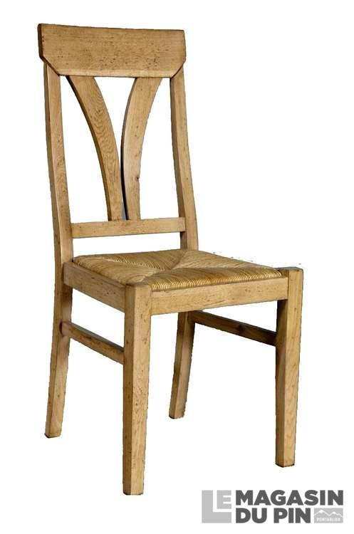 chaise ch ne massif loire assise paille le magasin du pin. Black Bedroom Furniture Sets. Home Design Ideas