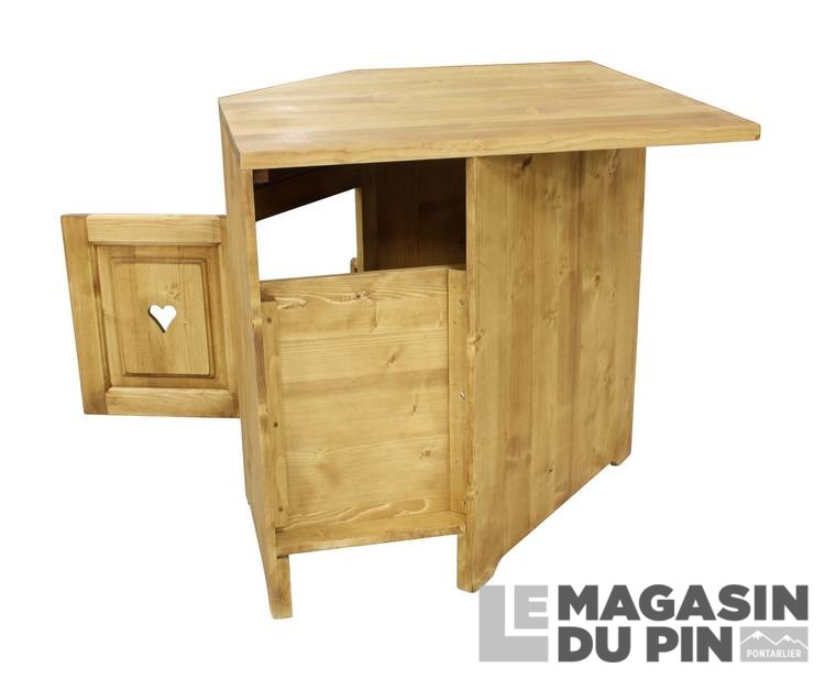 meuble bas d 39 angle 1 porte cuisine chamonix en pin massif le magasin. Black Bedroom Furniture Sets. Home Design Ideas