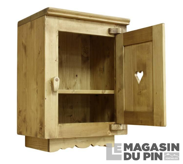 Meuble haut 1 porte cuisine chamonix en pin massif le for Meuble haut cuisine pin massif