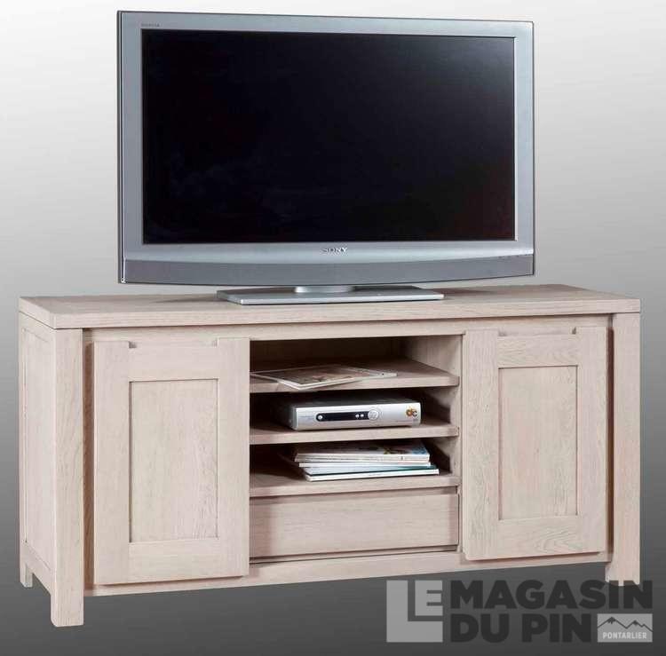 meuble tv ch ne massif 2 portes cap coz le magasin du pin. Black Bedroom Furniture Sets. Home Design Ideas