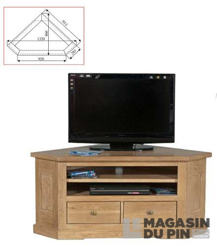 meuble tv d 39 angle ch ne massif loire le magasin du pin. Black Bedroom Furniture Sets. Home Design Ideas