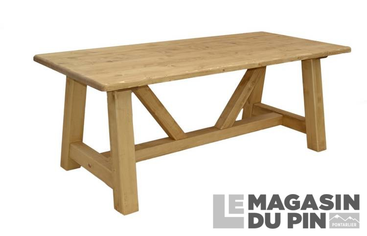 table meuble chalet en pin massif le magasin du pin. Black Bedroom Furniture Sets. Home Design Ideas