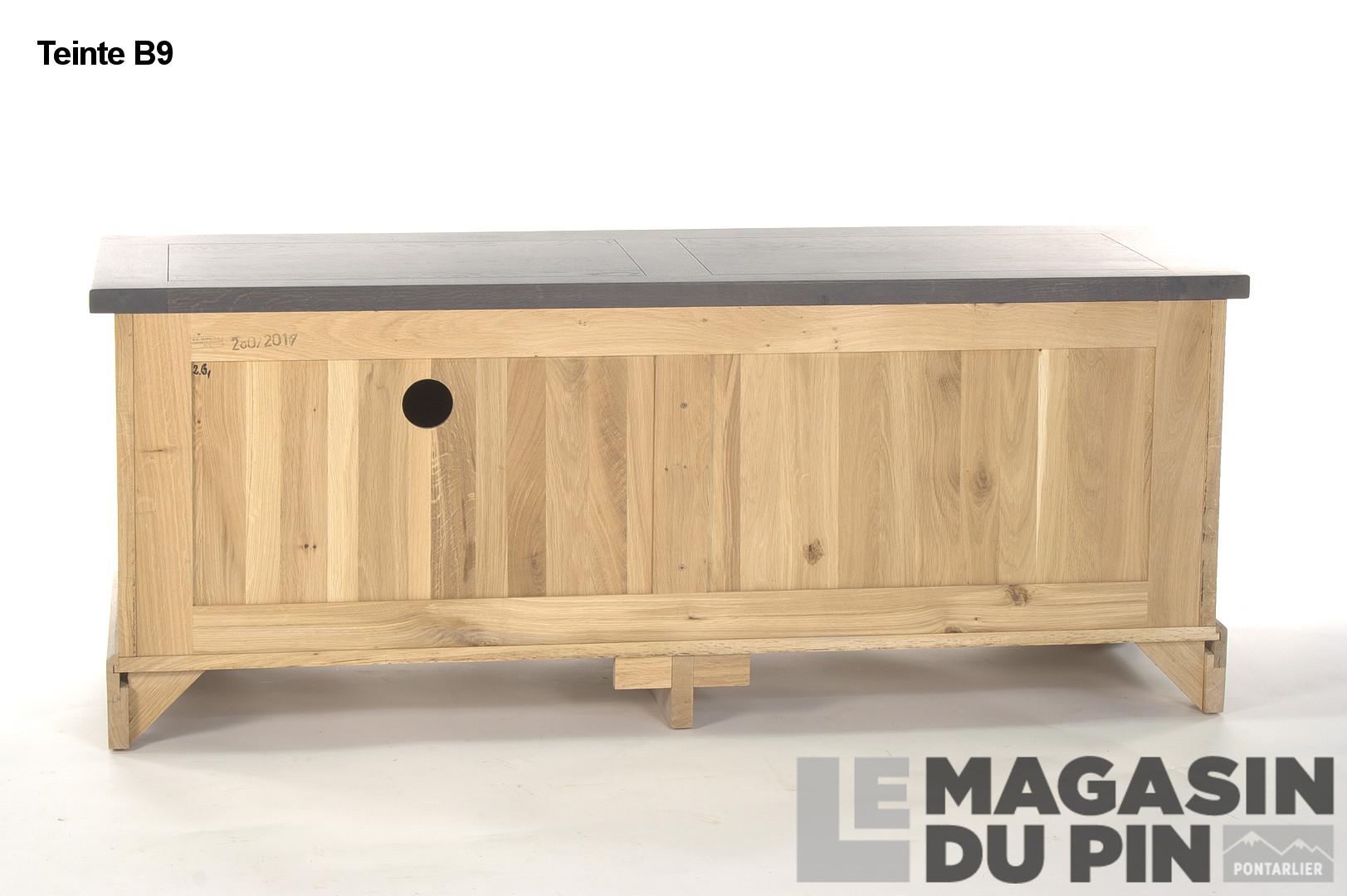 Meuble Tv Porquerolles Ch Ne Massif Le Magasin Du Pin # Meuble Tv En Chene Massif Clair