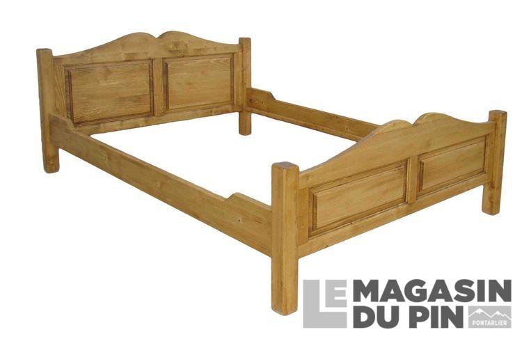 lit double pin massif j c 160 x 200 cm transilvania le magasin du. Black Bedroom Furniture Sets. Home Design Ideas