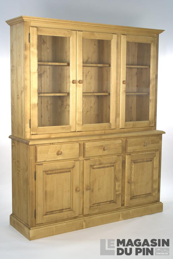 Meuble 2 corps pin massif 6 portes 3 tiroirs transilvania le magasin - Les trois suisses meubles ...