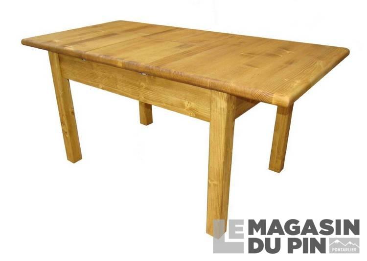 table rectangulaire pin massif 1 allonge transilvania le magasin du. Black Bedroom Furniture Sets. Home Design Ideas