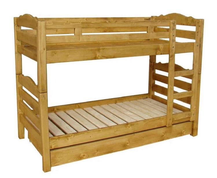 lits superpos s montana pin massif 90 x 190 cm avec tiroir le magasin. Black Bedroom Furniture Sets. Home Design Ideas