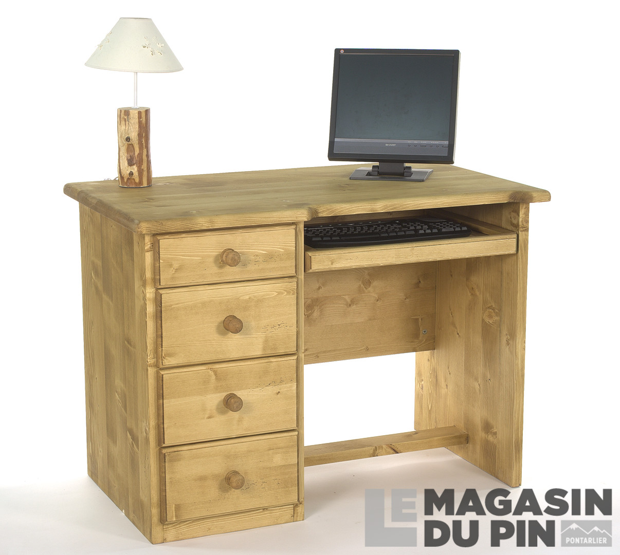 bureau informatique transilvania en pin massif le magasin du pin. Black Bedroom Furniture Sets. Home Design Ideas