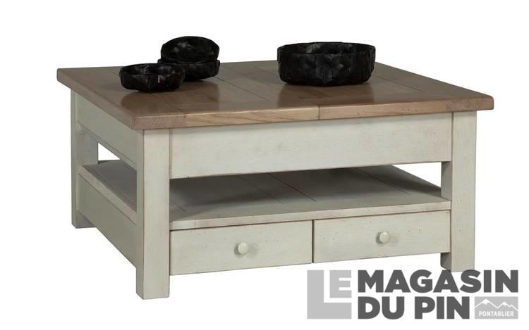 Table De Salon Carree.Table Basse Carree Allonge