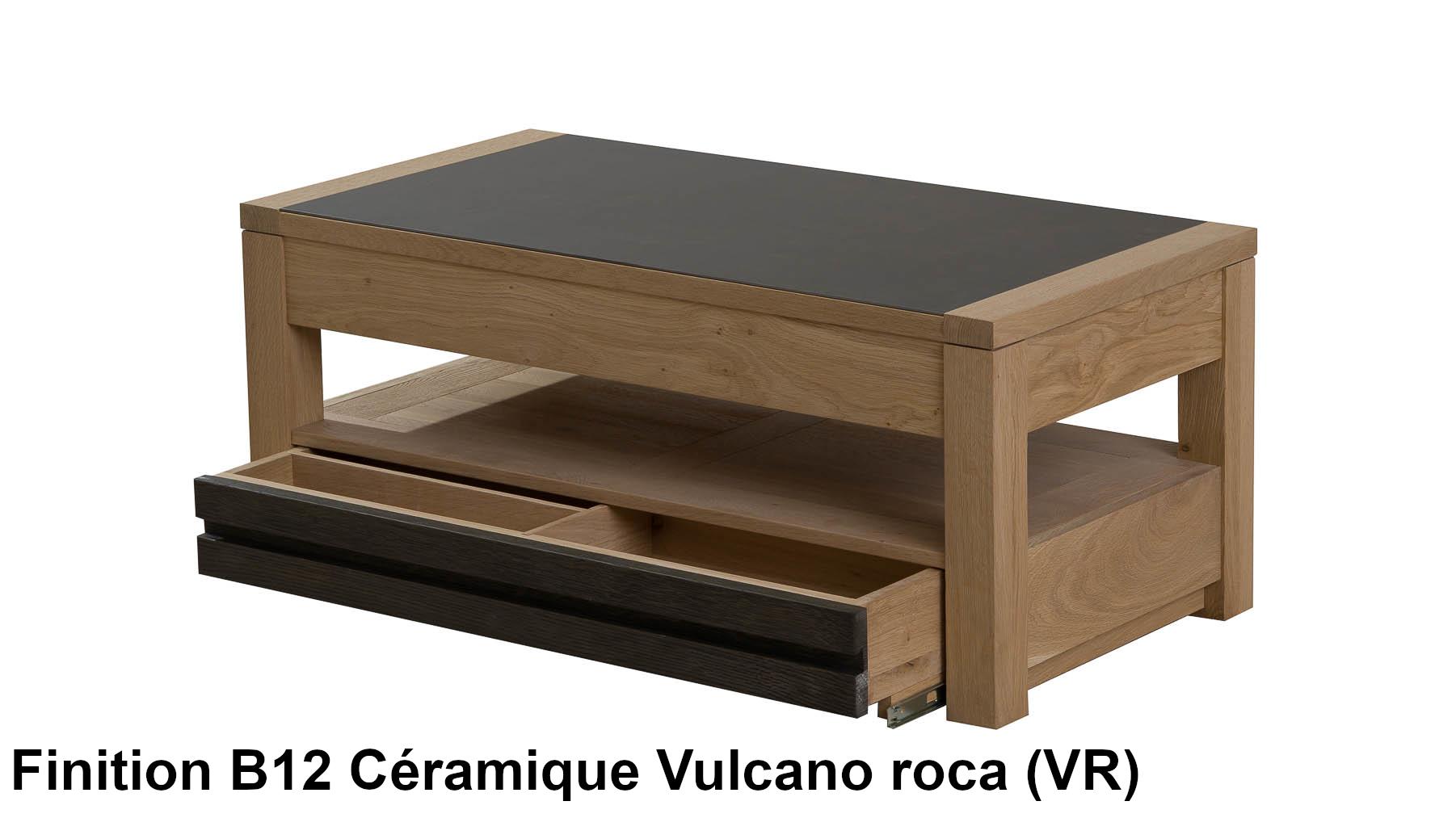 table basse en ch ne massif c ramique citadine le magasin. Black Bedroom Furniture Sets. Home Design Ideas