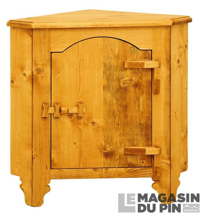 bahut d 39 angle 1 porte charni res bois en pin massif tradition le magasin. Black Bedroom Furniture Sets. Home Design Ideas