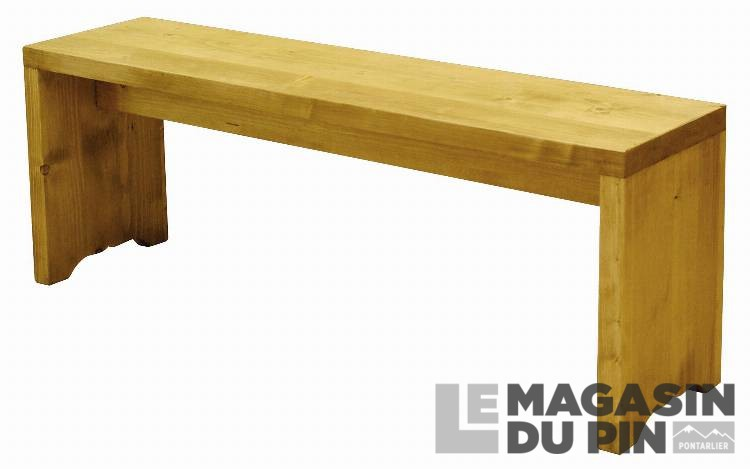 Banc Cube 120 Cm Pin Massif Le Magasin Du Pin