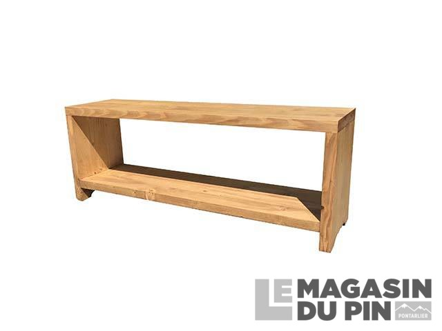 banc cube 80 cm pin massif tag re le magasin du pin. Black Bedroom Furniture Sets. Home Design Ideas