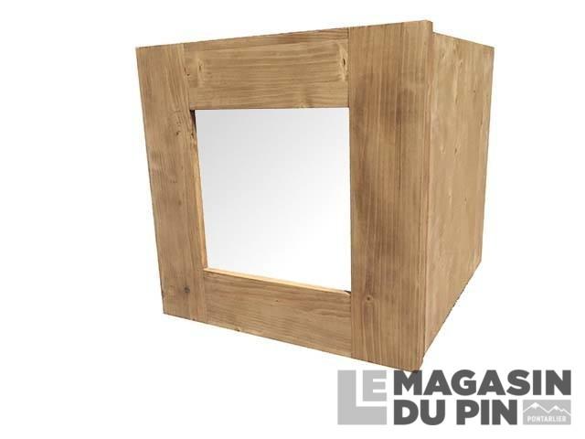 Porte vitr e en bois pour int rieur de cube pin massif le for Porte interieur pin massif
