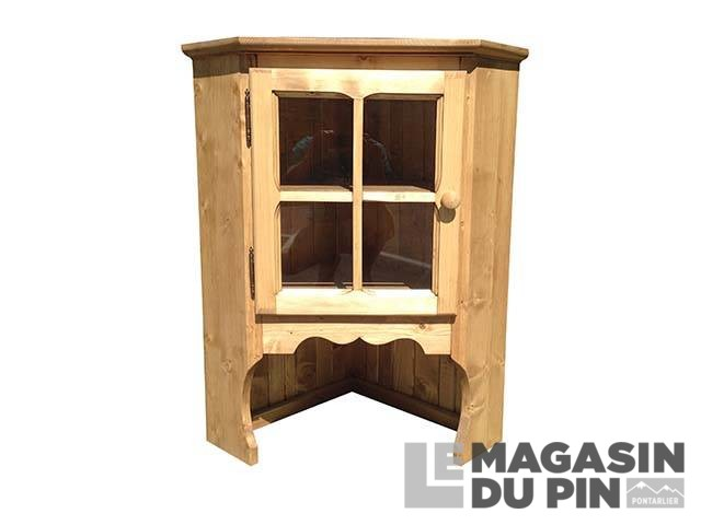 meuble haut d 39 angle en pin massif le magasin du pin. Black Bedroom Furniture Sets. Home Design Ideas