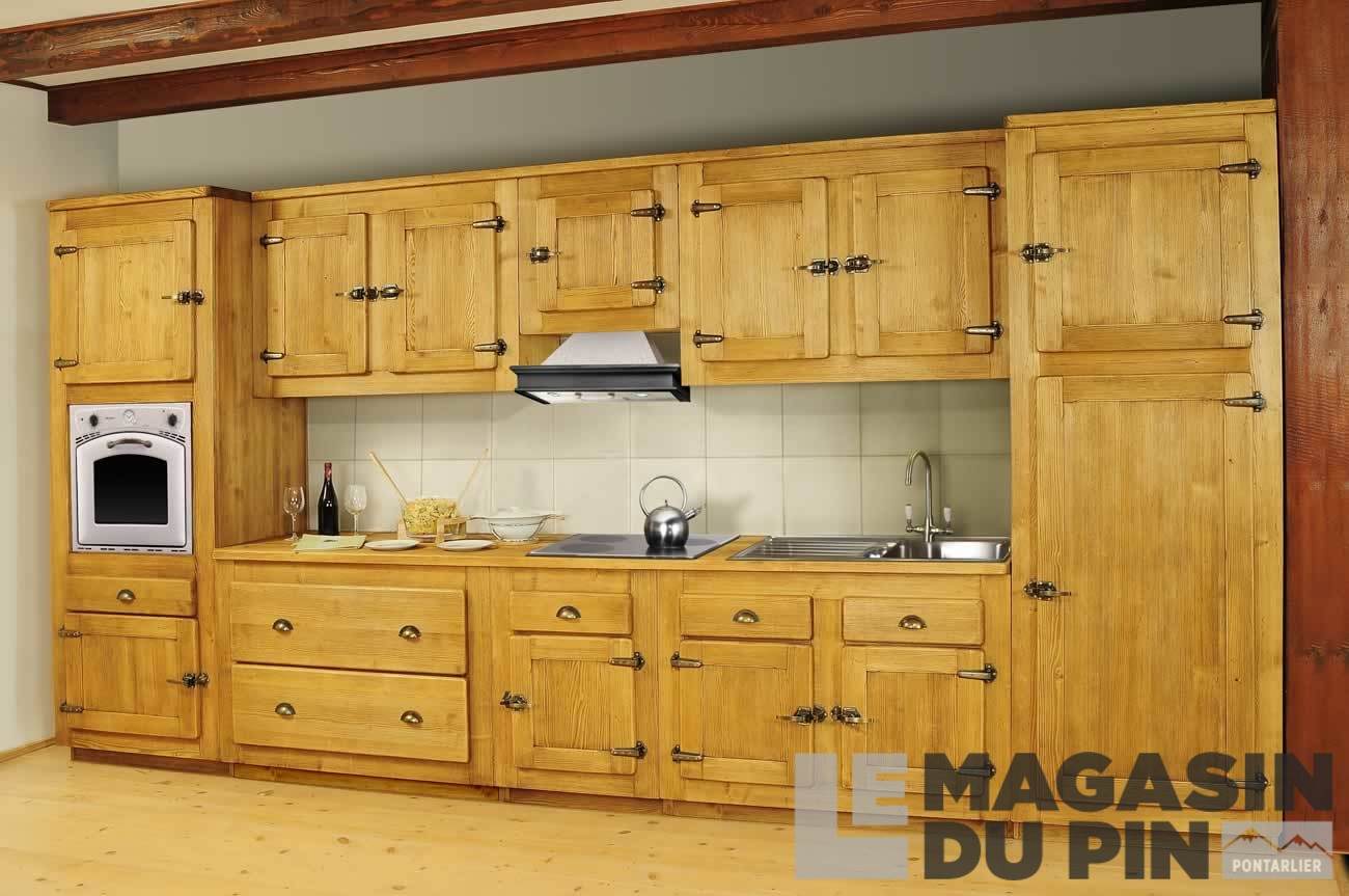 meuble sous vier d 39 angle pin massif pour cuisine avoriaz le magasin. Black Bedroom Furniture Sets. Home Design Ideas
