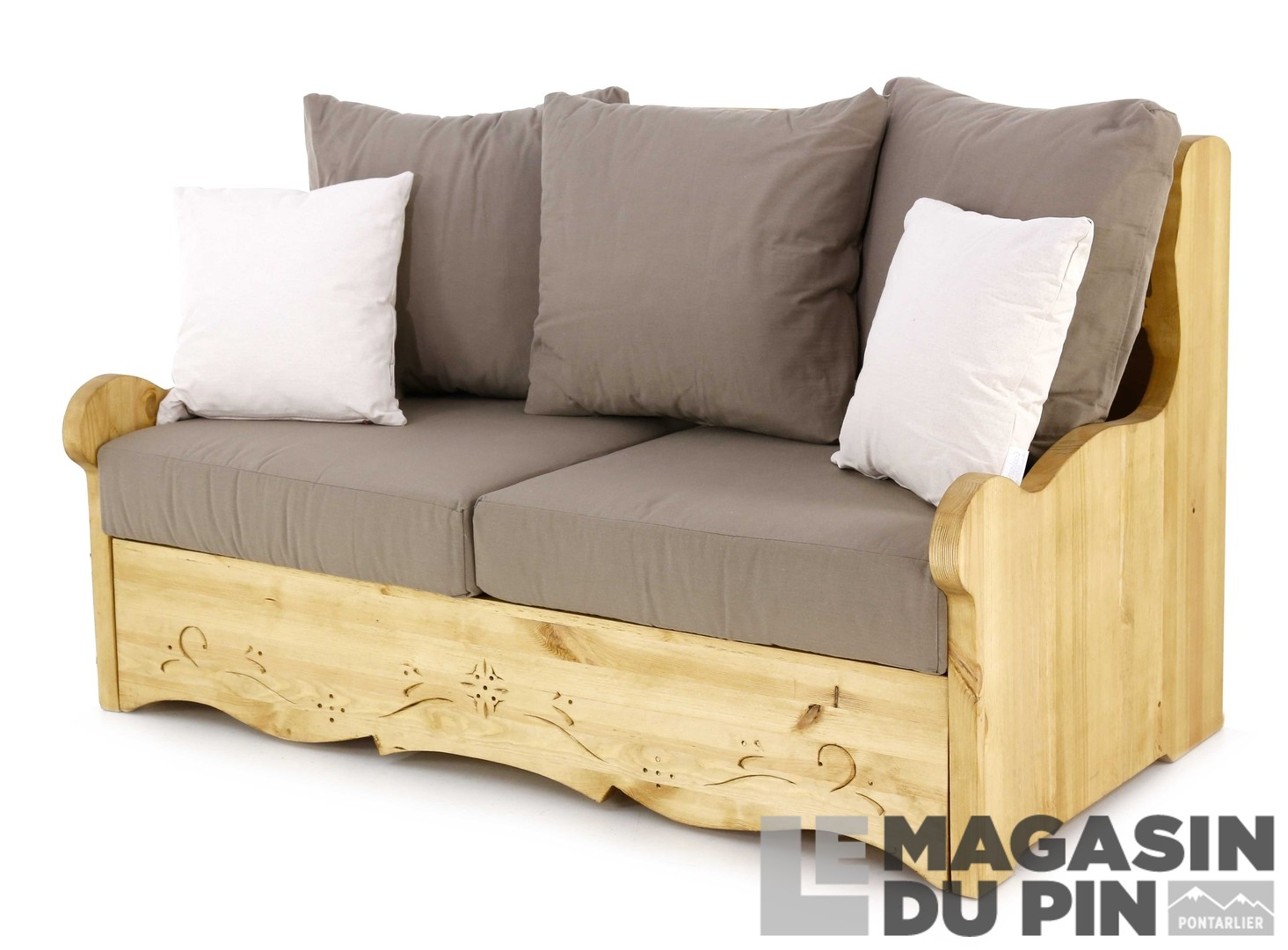 Canap s et fauteuils en pin massif le magasin du pin for Canape upload