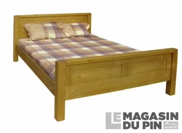 lit en pin massif 140x190 adriana le magasin du pin. Black Bedroom Furniture Sets. Home Design Ideas