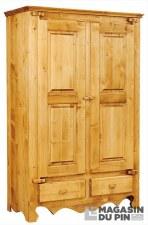 Armoire 2 portes charnières bois Chamonix