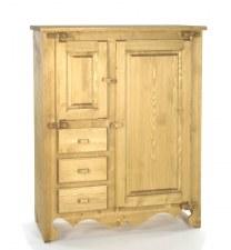 Armoirette 2 portes charnières bois Chamonix