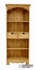 Bibliothèque 2 tiroirs 2 étagères Chamonix
