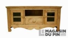 Meuble TV 2 portes vitrées Chamonix
