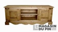 Meuble TV Chamonix 2 portes chanières bois