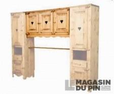 Élement lit pont 3P charnières bois Chamonix