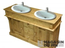 Meuble lavabo double Chamonix