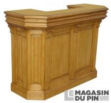 Meuble bar 180 cm plateau bois
