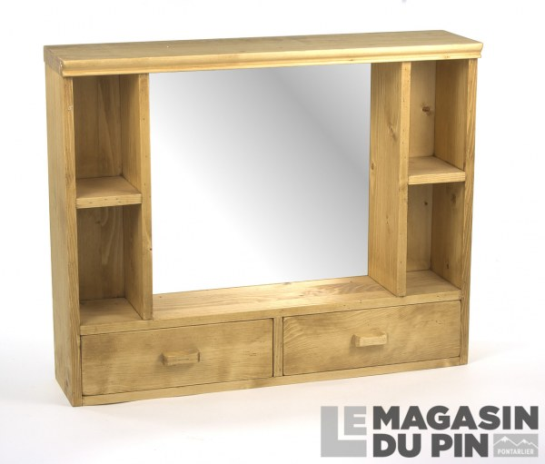 tag re haute avec miroir en pin massif chamonix le magasin du pin. Black Bedroom Furniture Sets. Home Design Ideas