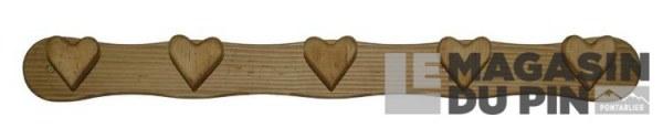 Patère 5 crochets cœurs Chamonix