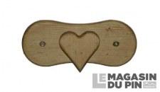 Patère 1 crochet cœur Chamonix